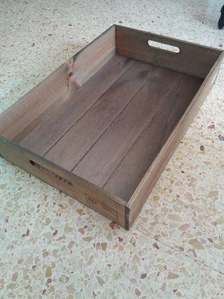 Bandeja de madera almacenaje