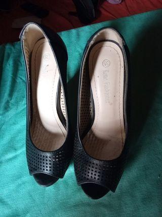zapatos tacon fino i plataforma