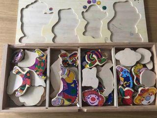 Puzzle infantil de payasos