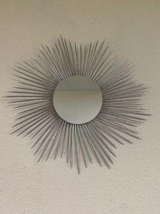 Espejo decorativo redondo pared
