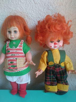 Muñecos años 60-70 8€ los 2