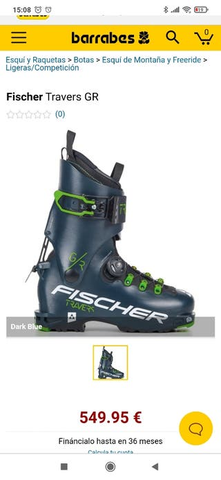 Fischer travers Botas esquí travesía skimo