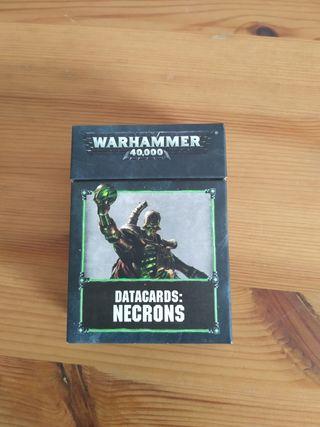 Datacards Necrones - Warhammer 40k