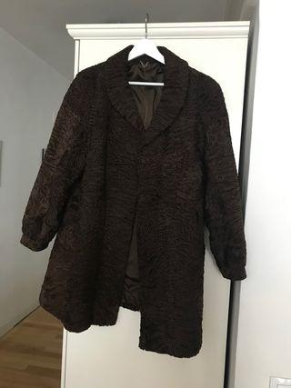 Abrigo auténtico astracán marrón