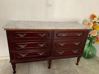 Mueble cajonera Comoda antigua marmol