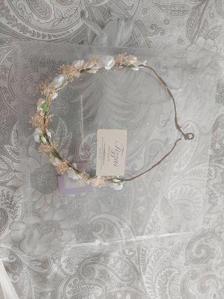 corona diadema flores comunion tizzas