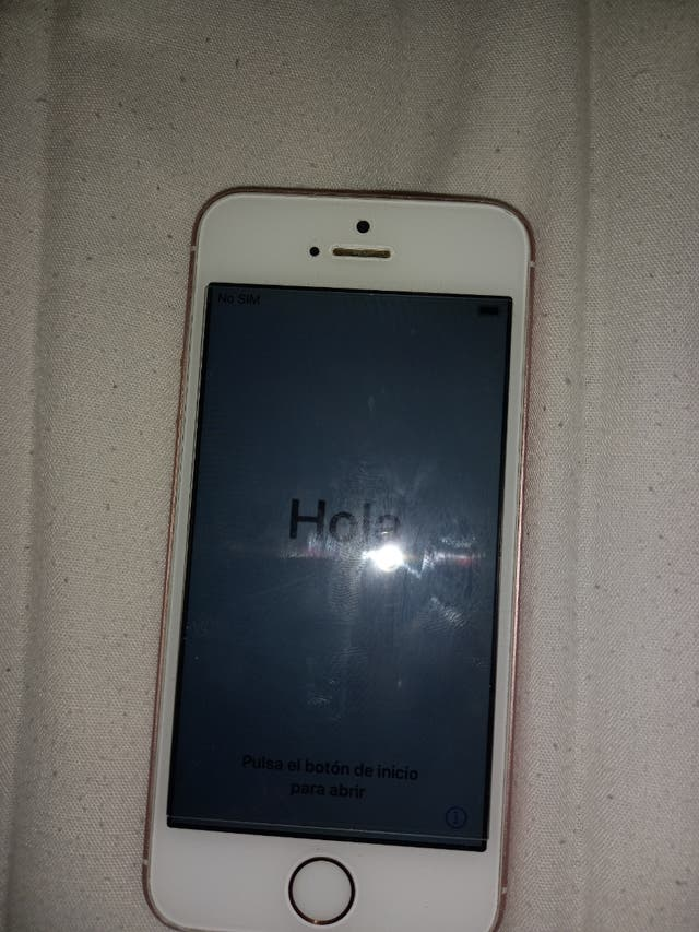 I phone SE 2016 with case.