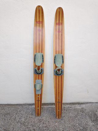 Esquís náuticos vintage