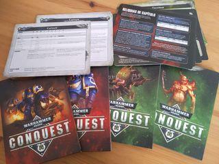 Warhammer 40.000 Conquest - Hojas de datos