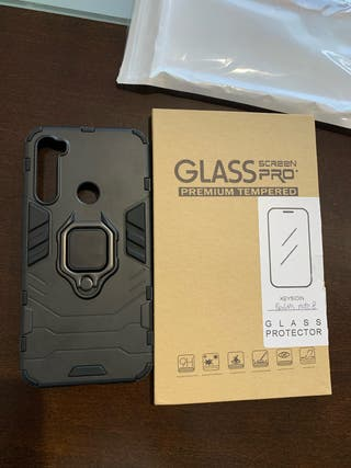 Funda y cristal protector Redmi Note 8 - NUEVO