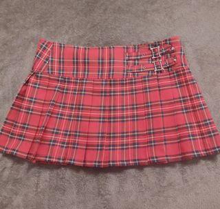 Falda plisada cuadros escoceses
