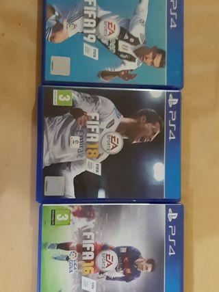 Fifa 16, Fifa 18 y Fifa 19 PS4