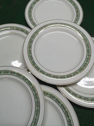 Platos de postre semi porcelana franceses