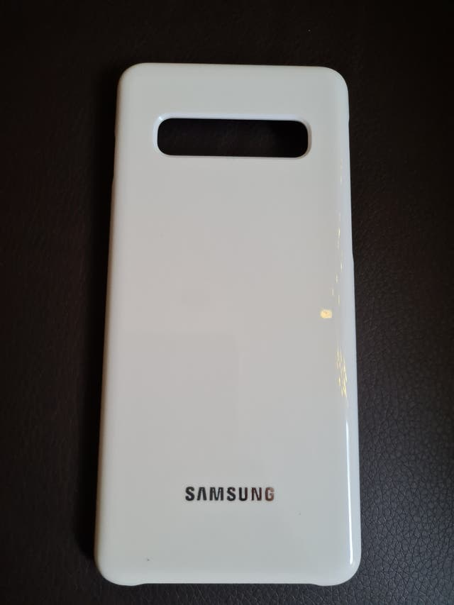 Samsung galaxy S10 led back cover white