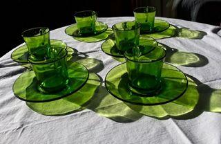 Juego de café duralex verde