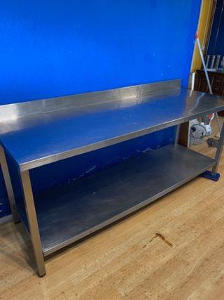 Mesa acero inoxidable, mostrador, encimera 2 metro