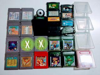 Lote Game boy con 19 juegos,con extras.