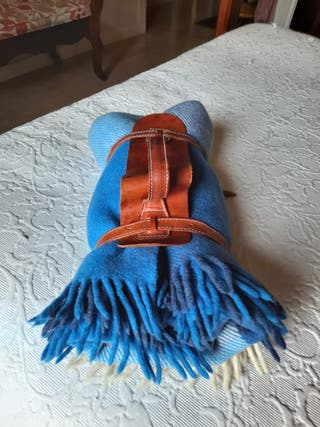 Manta de viaje pura lana virgen.