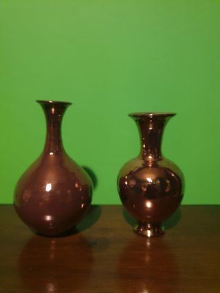 2 Jarroncitos color cobrizo (5€ los 2)