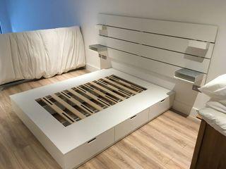 Estructura de cama y cabecero NORDLI