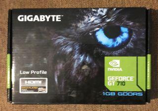 Gigabyte GeForce GT 710 GDDR5 sin estrenar.