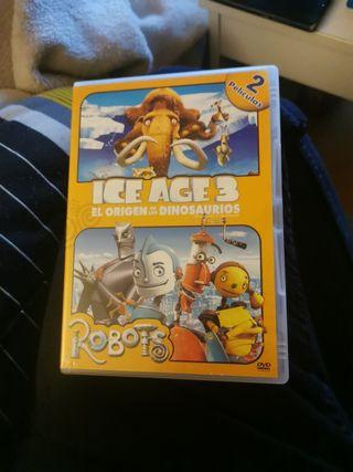 ice age 3 y robots el origen de los dinosaurios