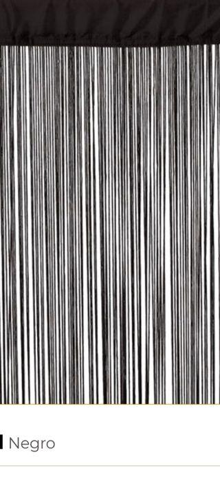 cortina hilo negra