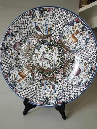 Plato cerámica portuguesa grande
