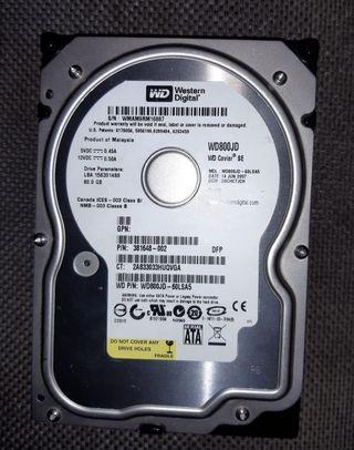 """Disco Duro Western Digital 80GB 3.5"""" ATA"""