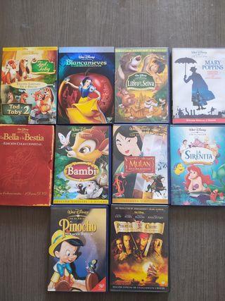 DVDs Disney, Pixar, DreamWorks...