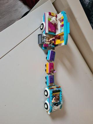 carabana +coche lego friends