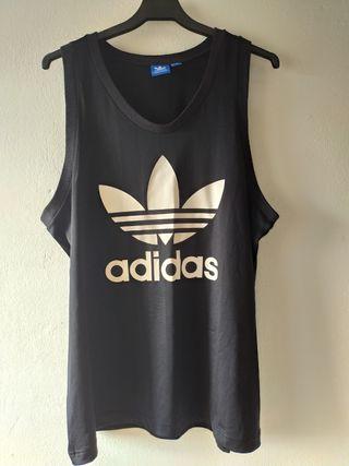 camiseta hombre tirantes negra Adidas talla L