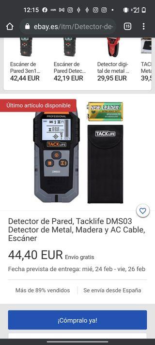 Detector de Pared, Tacklife DMS03