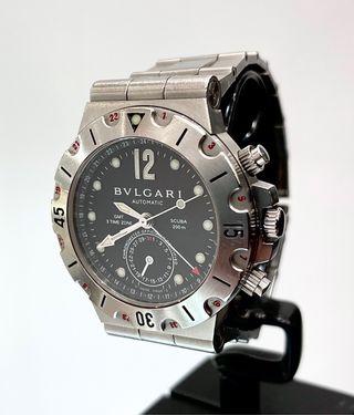Reloj Bulgari Diagono Scuba GMT. Caballero.