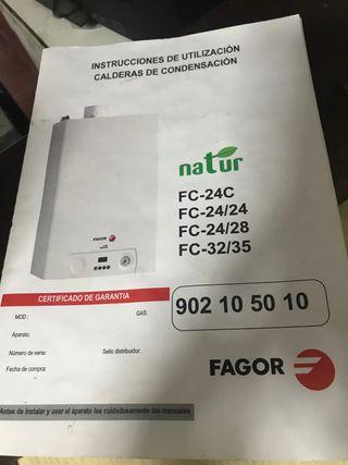 Caldera Fagor gas Propano