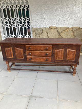Mueble recibidor aparador vintage madera