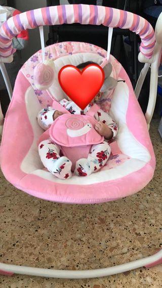 Mecedora eléctrica para bebé niña