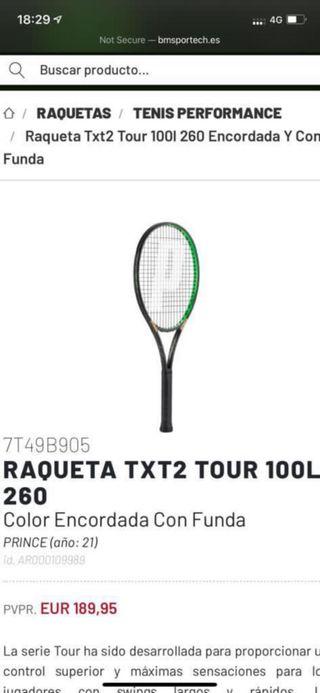 Raqueta de tenis prince txt2