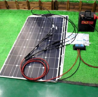 Kit placa solar flexible 200W