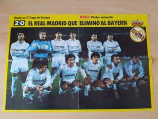 POSTER REAL MADRID Año 1987 MARCA +Regalo
