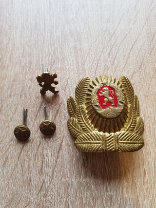 Insignias para gorra ejercito popular de Bulgaria