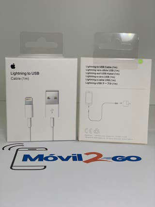 Cable Lightning USB Apple certificado 1Mt iphone