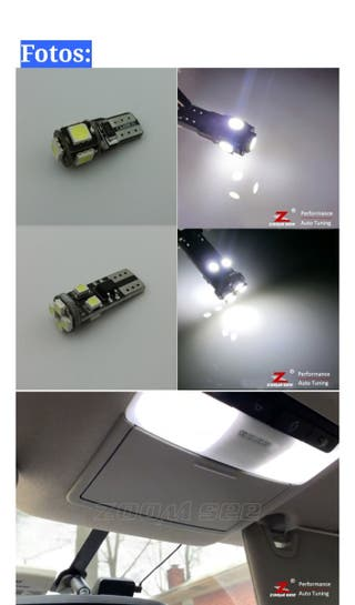 Pack 5 Bombillas Led T10 5W.