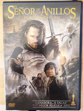 DVD Peli El señor de los anillos. Retorno del rey