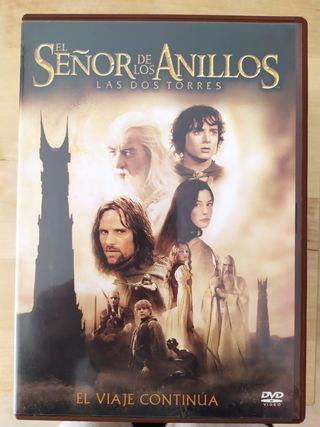 DVD película El señor de los anillos. 2 torres
