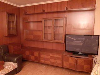 Mueble salon comedor en L vintage de madera maciza