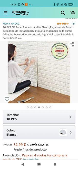 adhesivo pared de ladrillos