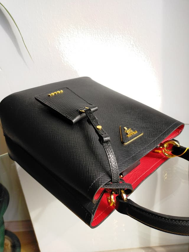 Prada Saffiano Panier Small Top Handbag