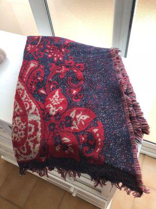 Pañuelos bufanda grande Rojo y azul marino