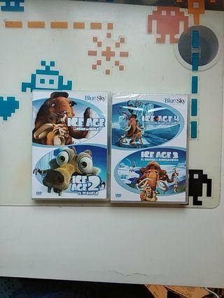 DVD Ice Age (Las 4 películas = 4 DVDS)
